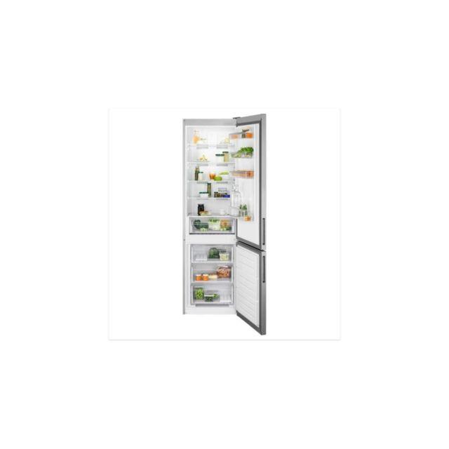 Electrolux Lnt5mf36u0 - Refrigerateur Congelateur Bas - 360l 266+94- Froid Ventile - No Frost - A+ - H201 X L60cm - Inox