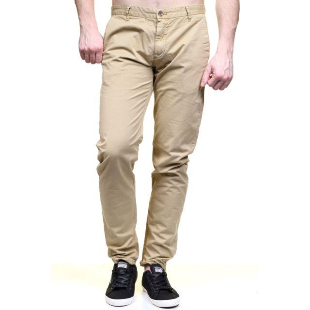 Kenzarro Jeans Kd67003 Chino Beige pas cher Achat