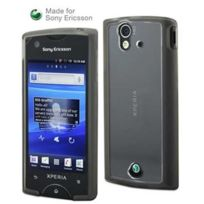Sony Ericsson - Housse bi matieres Xperia Ray noire made for