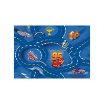 Associated Weavers Kids Corner - Cars - Disney - Tapis ou Descente de lit World of Cars bleu 95 x 133 cm