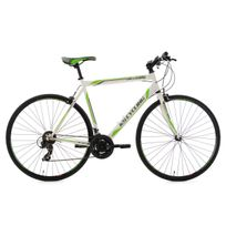 KS CYCLING - Vélo fitness 28'' Piccadilly blanc-vert TC 56 cm
