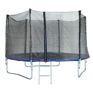 Trampoline achat klarfit rocketboy trampoline cm filet de for Trampoline exterieur decathlon