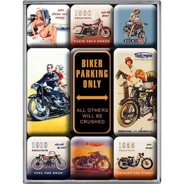 hotrodspirit Plaque Triumph Motorcycle Parking Only 30cm tole m/étal Deco Garage loft