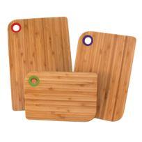 Totally Bamboo - Planche à découper en bambou - Lot de 3 pièces Sets