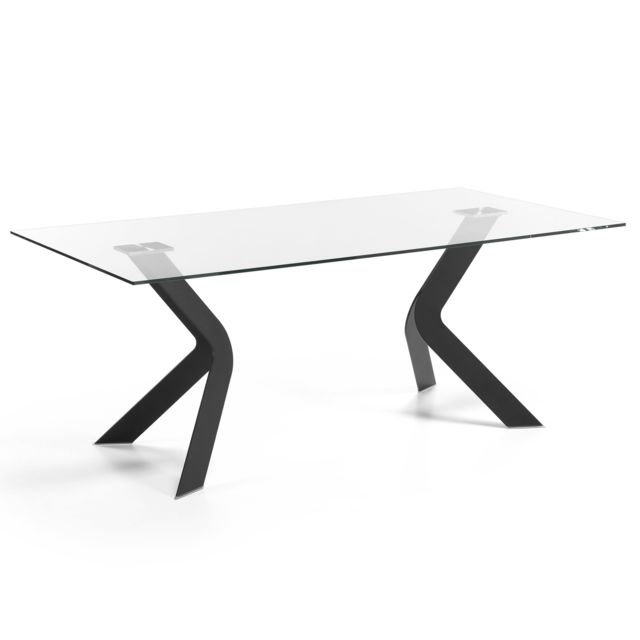 Kavehome Table Westport 200x100 cm, noir