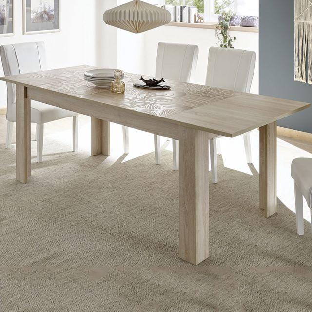 Kasalinea Table 180 cm avec rallonge couleur chêne clair Nerina 3