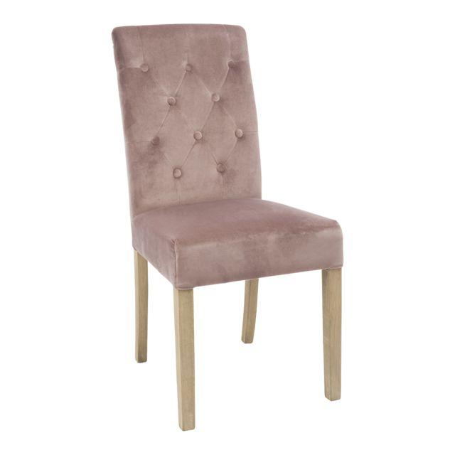 autre chaise capitonn e velours 45x57x97cm taupe pas cher achat vente chaises. Black Bedroom Furniture Sets. Home Design Ideas
