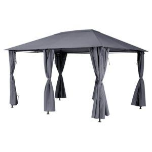 hesperide toile de toit pour la tonnelle santorini 3 x 4 m ardoise pas cher achat vente. Black Bedroom Furniture Sets. Home Design Ideas