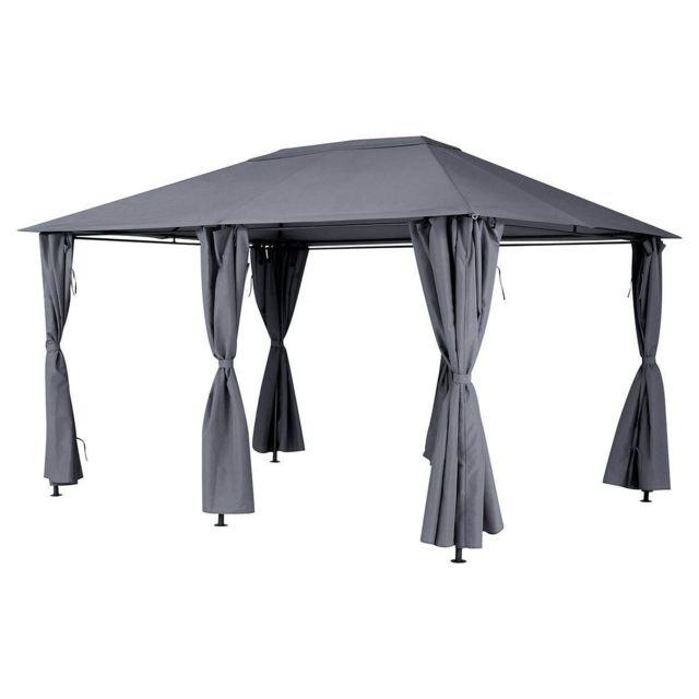 hesp ride toile de toit pour la tonnelle santorini 3 x 4 m ardoise pas cher achat vente. Black Bedroom Furniture Sets. Home Design Ideas