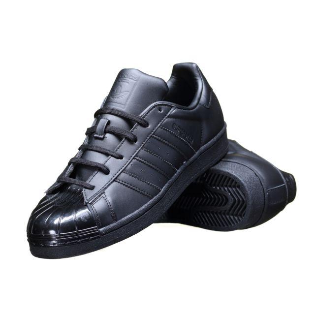 Basket basse adidas originals superstar glossy bb0684 noir