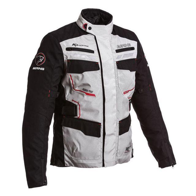 date de sortie: remise spéciale de acheter pas cher Bering - veste moto Shield textile homme hiver Gore Tex noir ...