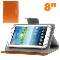Yonis - Housse tablette 8 pouces universelle support etui protection Orange