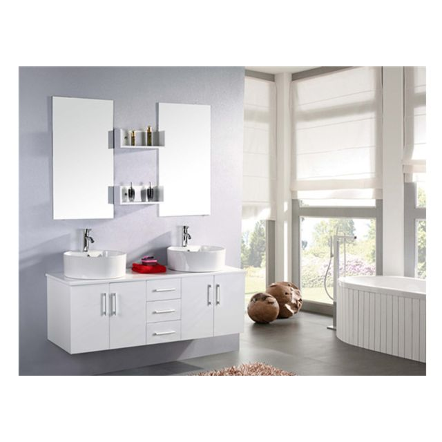 great simba meuble salle de bain double vasque luxe lavabo cm mod white lion with meuble salle. Black Bedroom Furniture Sets. Home Design Ideas