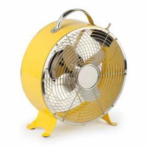 Faro - Ventilateur déco en acier 2 vitesses diamètre 26 cm hauteur 33 cm Triton