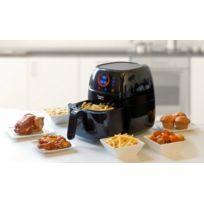 Bestron - Friteuse Tactile programmable à air chaud - PrepAir - Noir - Avec recettes - Pour frites, poulet, viande, poisson, légumes, cupcakes