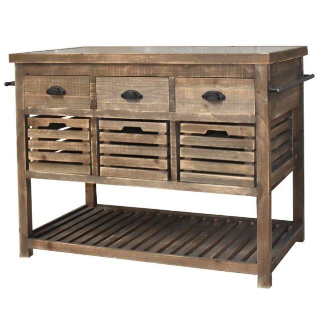 chemin de campagne meuble ilt central billot console bahut buffet table de drapier tiroirs