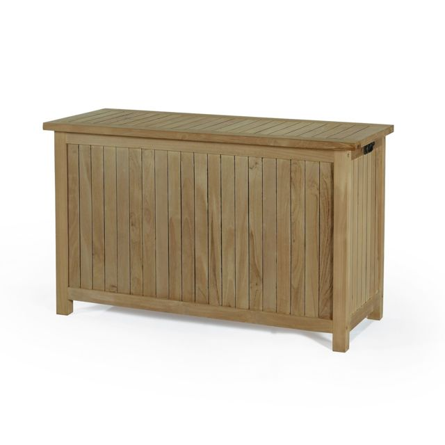 teck 39 attitude coffre de jardin en teck ecograde 120 cm aoba pas cher achat vente ensembles. Black Bedroom Furniture Sets. Home Design Ideas