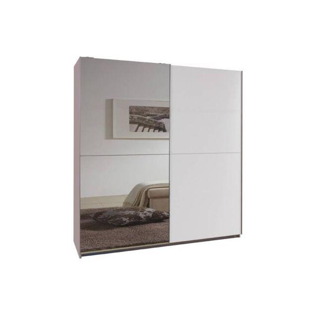 Inside 75 Dressing portes coulissantes Clapton 135 cm blanc / miroir