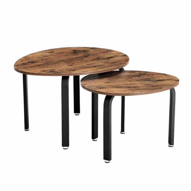 Vasagle Lot De 2 Tables Gigognes Table Basse Table D Appoint