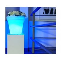 Batimex - Pot à fleur lumineux à Led multicolore branchement sur secteur - Ø 51 x h 47 cm