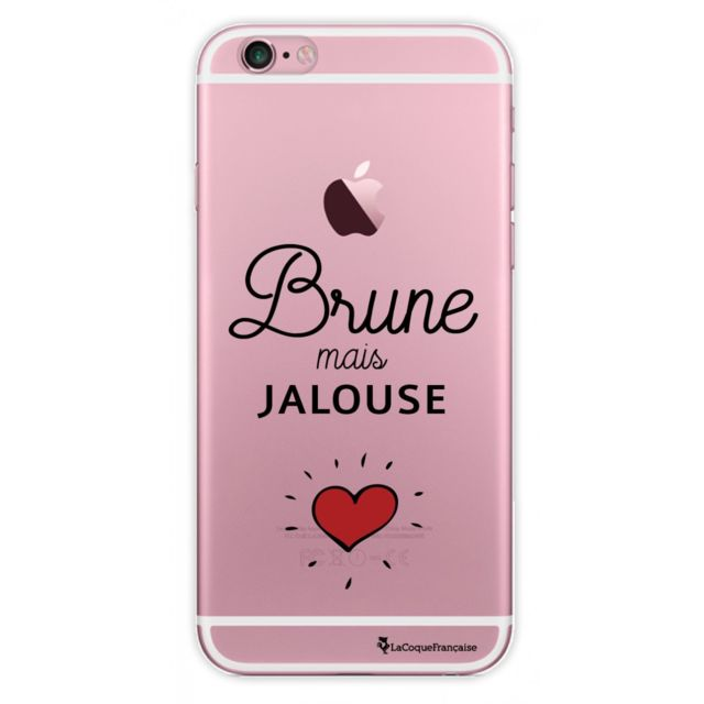 la coque francaise coque iphone 6 iphone 6s rigide transparente brune mais jalouse pas cher. Black Bedroom Furniture Sets. Home Design Ideas