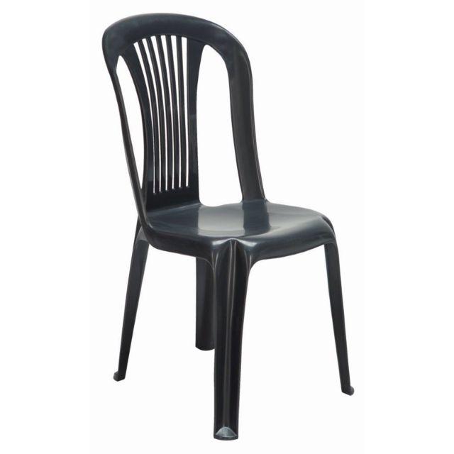 IGAP - Chaise de jardin Bistrot Gala - Anthracite - S6302Y - pas ...