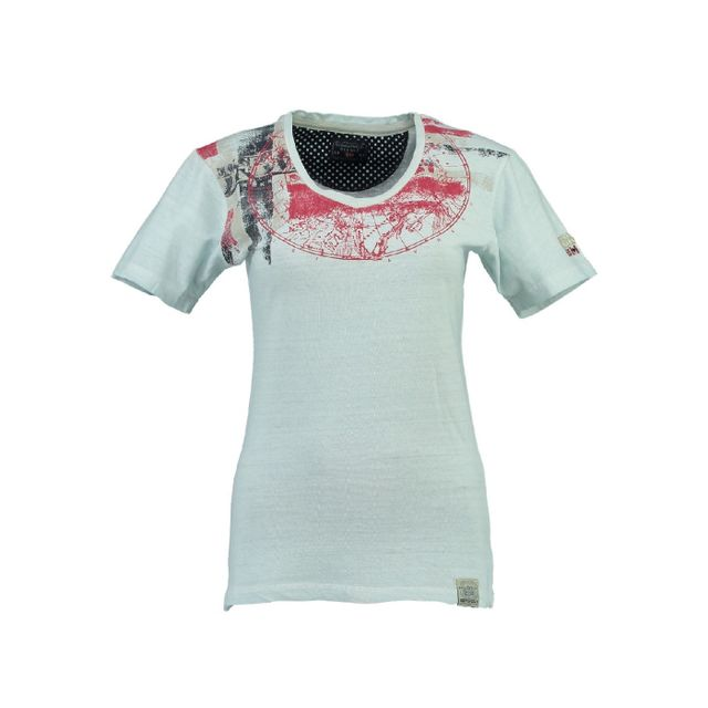 8559d632eac5 Geographical Norway - T-shirt Femme Jasmine Bleu - pas cher Achat ...