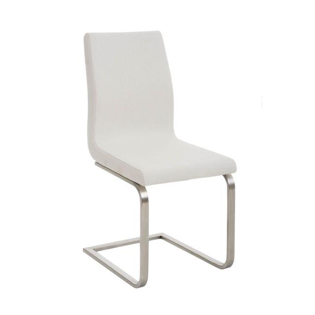 Moderne Chaise de salle à manger, de cuisine, de salon Washington en tissu