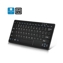 Auto-hightech - Mini Pc clavier 72 touches avec Windows 10, Cpu Intel, 2 Go de Ram, 32Go mémoire Bluetooth Noir