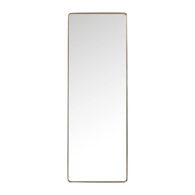 Karedesign miroir curve rectangulaire cuivre 200x70cm kare for Miroir rectangulaire design