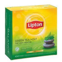 Lipton - Thé thé vert menthe - boîte de 100