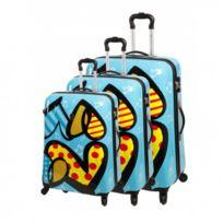 Snowball - Bagage Lot de 3 valises trolley - 4 Roues Tsa Rigide - Love Bleu
