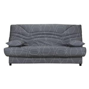 marque generique housse de clic clac matelass e tissu ouate 350gr m motif g om trique gris. Black Bedroom Furniture Sets. Home Design Ideas