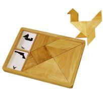 Sapin Malin - grand tangram en bois + 27 cartes modeles
