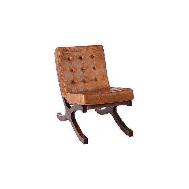 Siège relax en 50x86x78cm en cuir marron
