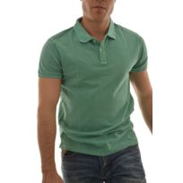 Scotch and soda - polos classic garment dyed pique polo. vert L