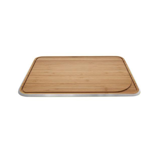 Pebbly Kitchen Planche à découper L avec rigole - gris métallique