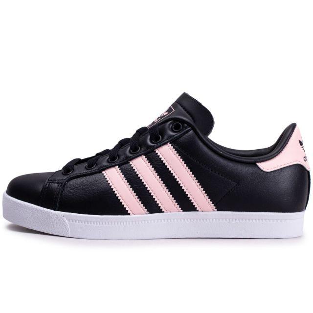 Adidas Coast Star Noire Et Rose Femme pas cher Achat