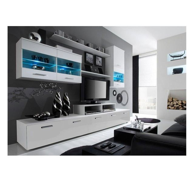 chloe design meuble tv design logi blanc pas cher achat vente meubles tv hi fi. Black Bedroom Furniture Sets. Home Design Ideas