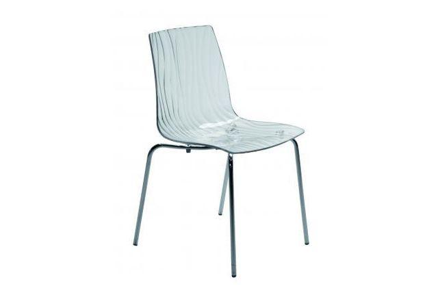 declikdeco chaise design transparente grise olympie - Chaise Design Transparente