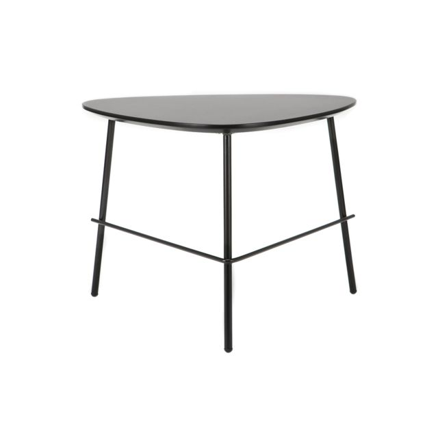 Miliboo Table basse design métal noir L60 cm Bloom