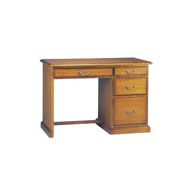 bureau demi ministre 4 tiroirs en ch ne massif sebpeche31. Black Bedroom Furniture Sets. Home Design Ideas