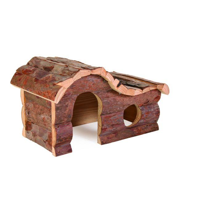 Trixie Maison Hana Natural Living pour rongeurs Longueur 43 cm Largeur 22 cm Hauteur 28 cm Lapins