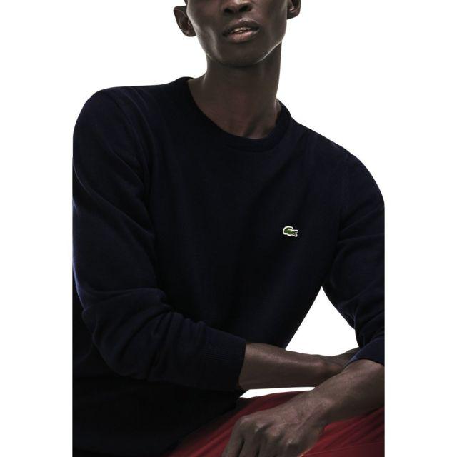 6a42194fcd Lacoste - Pull en coton - pas cher Achat / Vente Pull homme - RueDuCommerce
