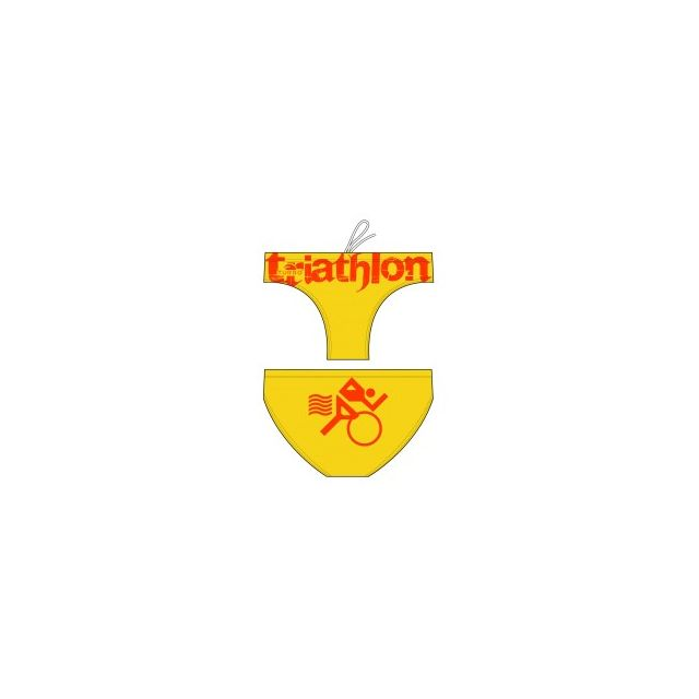 1499c0d2062b Turbo - Maillot de bain de waterpolo Triathlon Basic jaune orange - pas  cher Achat   Vente Maillots de bain - RueDuCommerce