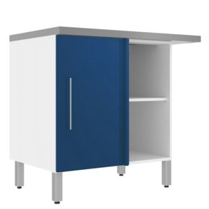 Alin a elia meuble de cuisine bas d 39 angle 1 porte bleu for Alinea meuble d angle