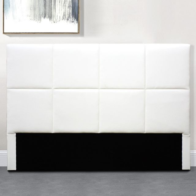 Meubler Design TÊTE De Lit Design Alexi - Blanc tête de lit - 140 cm