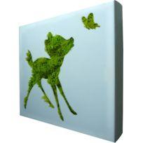FLOWERBOX - Tableau végétal Picto Faon en lichen stabilisé 20cm