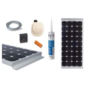divers kit panneau solaire 100w monocristallin pas. Black Bedroom Furniture Sets. Home Design Ideas