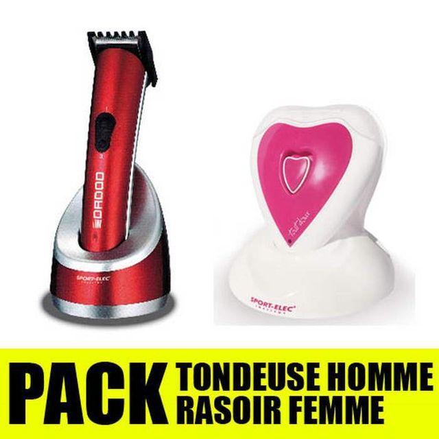 Sportelec Pack rasoir homme femme Sport-Elec Vuauteleachat